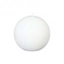 bougie boule rustic blanc d12, blanc