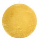 candela gialla rustica a palla d12, gialla