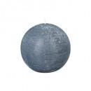 vela rústica gris bola d12, gris