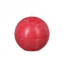vela rústica roja de la bola d12, roja