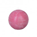 bola de vela rústica fusch d12, rosa