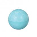 turq d12 vela bola rústica, azul claro