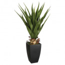 agave pot rectangle h73, green