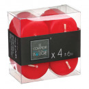 bougie votives rouge 3.8x3.8 x4, rouge
