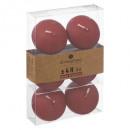 bougie flottantes rouge x6, rouge
