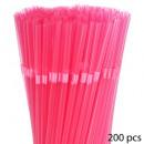 pailles x200 plastique tonic, 6-fois assorti, mult
