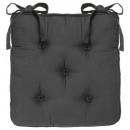 galette chaise 5 boutn gris f, gris foncé