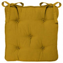 galette chaise 5 boutn ocre, jaune