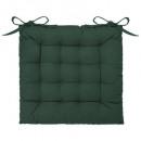galette chaise cedre 38x38, vert cèdre