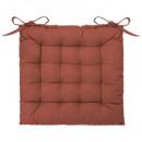 galette chaise terra 38x38, terracotta