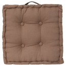 Kussen taupe vloer 40x40x8, taupe