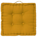 coussin sol ocre 40x40x8, jaune