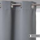 rideau occultant gris 140x260, gris clair