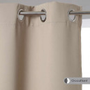 cortina opaca de lino 140x260, beige