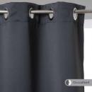 Cortina opaca gris oscuro 140x260, gris oscuro