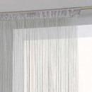 Vorhang grauer Draht 90x200, grau