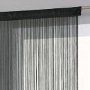 curtain black wire 90x200, black