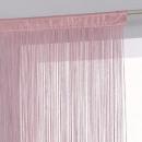cortina de alambre rosa pálido 90x200, rosa claro