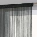 cortina de alambre negro 120x240, negro