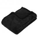 zwart microvezel plaid 125x150, zwart