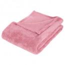 plaid microfibra rosa c125x150, rosa claro