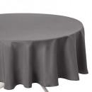 grijs vlekbestendig tafelkleed d180, grijs