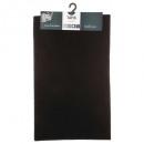 effen vloerkleed 50x80 zwart, zwart