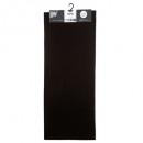 effen vloerkleed 50x120 zwart, zwart