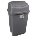 waste bin 25l gray, gray