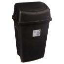 prullenbak 25l zwart, zwart