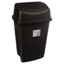 trash 25l black, black