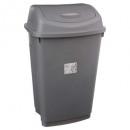 waste bin 50l gray, gray