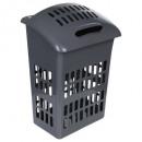laundry bin 50l gray, gray