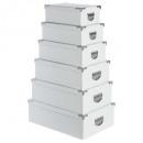 esquinas de metal caja x6 blanco, blanco