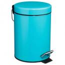trash metal 3l turquoise, lichtblauw