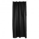 cortina de ducha poliéster negro, blanco