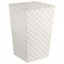 laundry basket white braid, white