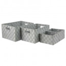 wholesale Household & Kitchen:basket x4 gray braid