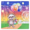 elio puzzle x4 43pcs, multicolor
