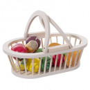 basket fruits & vegetables wood