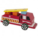 fire truck in wood