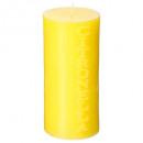bougie ronde gm citr d7 h15, jaune
