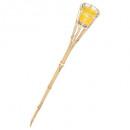 torche bambou bougie citronnel, jaune