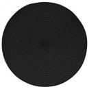 ronde gevlochten tafel set zwart, zwart