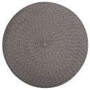 set table tresse ronde gris, gris