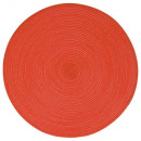set table tresse ronde rouge, rouge