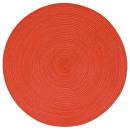 conjunto de mesa trenzada roja, roja redonda