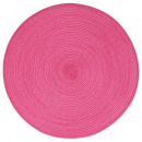 set table tresse ronde fusch, rose moyen