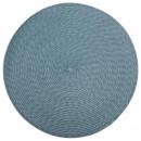 wholesale Table Linen: round braid storm table set, blue