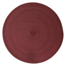 set round braid table wine, dark pink